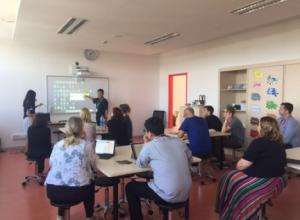 Teacher training:interactive projection