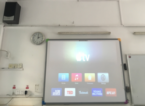 AirPlay devices in 28 classrooms of an international school