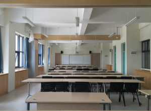 Classroom projection, interactive whiteboard, large screen equipment in 60 classrooms of an international school