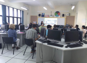 Teacher training:electronic whiteboard and interactive large screen